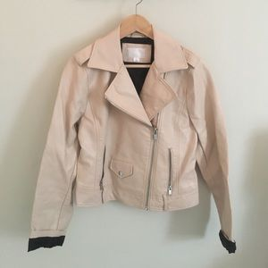 Pale Pink Leather Jacket